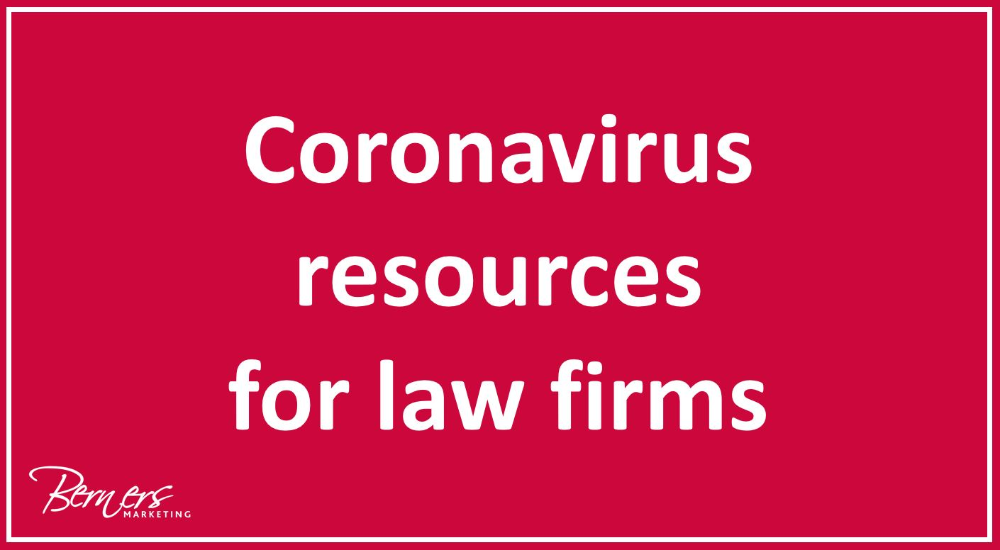 Coronavirus marketing resources for law firms